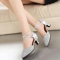 Women's Leatherette Sparkling Glitter Heels Modern Dance Shoes (053106445)