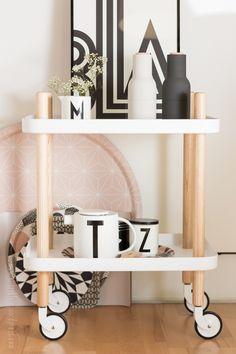Block table by Normann Copenhagen and Bottle grinders by Menu via Ein Klitzeklein(es) Blog.