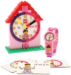 """LEGO Girls' 9005039 """"Time Teacher"""" Set with Mini-Figure Link Watch, Constructible Clock, and Activity Cards"""