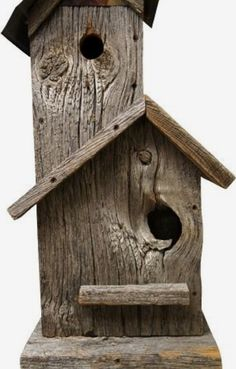 Old barn board bird house