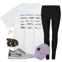 southern tide, leggings, nikes and southern proper