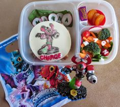 Skylander school lunch box idea | packed in @EasyLunchboxes containers
