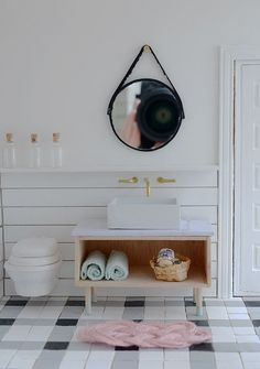 I'm so happy to be able to share the bathroom and workspace of my Little Modern Farmhouse. It's the second set of reveals for the Do...