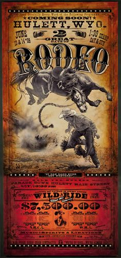 Who said horses can't fly? Hulett Rodeo Poster | Bob Coranto.