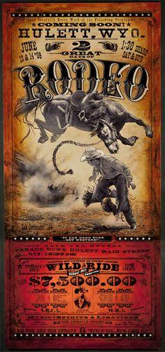 Who said horses can't fly? Hulett Rodeo Poster   Bob Coranto.