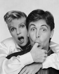 Paul & Linda McCartney B/W The Beatles 8x10 Glossy Photo | Vintage ...