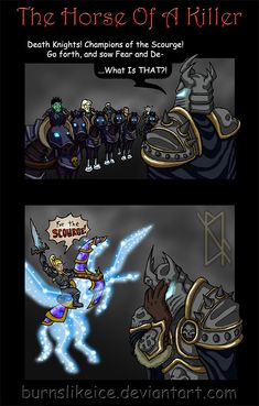 world of warcraft comic- I totally have this mount