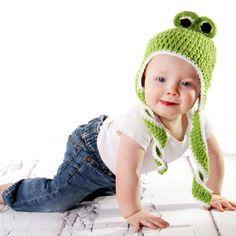 Froggy Earflap Crochet Baby Hat #Melondipity