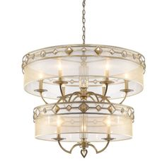 Golden Lighting Coronada 9 Light Drum Chandelier