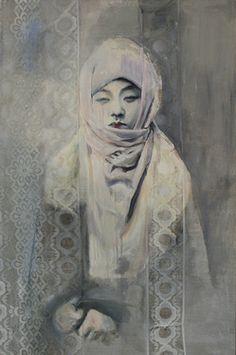 "Saatchi Online Artist Wiola Stankiewicz; Painting, ""self-portrait 7"" #art"
