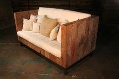 Reclaimed Wood Loveseat Sofa. $2,895.00, via Etsy.