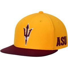 5657222294b Arizona State Sun Devils adidas Two-Tone Adjustable Snapback Hat - Gold  Maroon