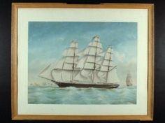 Het klipperfregat 'Noach', Spin, Jacob, 1859 Maritiem Museum Rotterdam