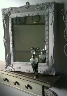 French style shabby chic mirror with by HandCraftedMirrors on Etsy