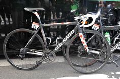 TDF stage winner Voeckler and I ride the same bike, mine with a slightly more relaxed geometry for my less bendy body.