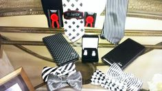 Accessories for your suit we have the ties,, business wallet, cuff links and trouser socks