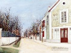 Maurice Utrillo Suburban Street oil painting reproductions for sale