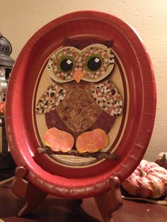 Paper cutout Mosaic owl- Cute craft I did it turned out really good