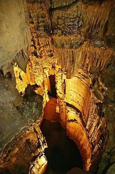 Mammoth Cave in Kentucky, USA. World's largest cave system. Over 390 miles of passageways.