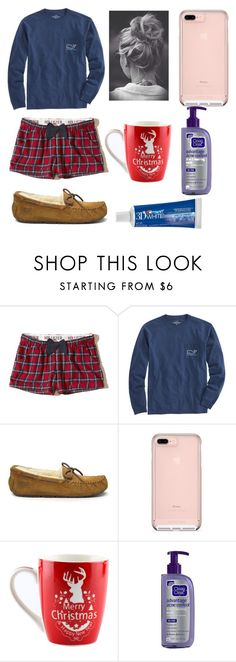 """""""Merry Christmas Eve"""" by abbyschellhase ❤ liked on Polyvore featuring Hollister Co., Vineyard Vines, UGG Australia and Clean & Clear"""