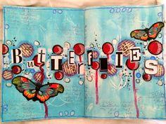 Art journal pages butterflies