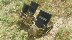 Dual AR15 pmag carrier stacked with pistol mags for glock 19. #conchovalleytactical #ar15 #glock #pistols #guns #rifle #2a #custom #556 #9mm #shoot #gunslinger #twoisone #love #usa #usamade #sunsoutgunsout #summer #army #trainharder #practicedaily #veteran #sensevictory #carryon