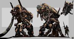 ArtStation - Mechs and Bots , Hue Teo