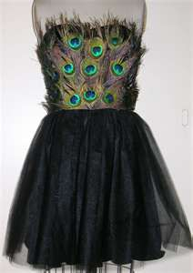 Peacock dress. this is super cool. bridesmaids?