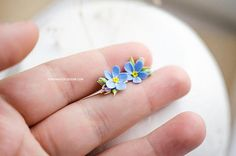 Tags: forget me nots forget-me-nots blue floral studs floral studs floral jewelry forget me not gift forget me not flower botanical studs floral stud earrings Myosotis earrings Myosotis studs forget-me-not studs forget me not studs Handmade small stud earrings with forget me nots