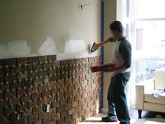 Installing an Interior Brick Wall (aka: The 'warehouse' effect) » Curbly | DIY Design Community