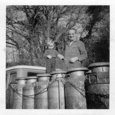Milk churn lorry 1965 Landulph, Cornwall.