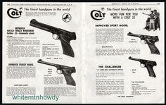 1954 COLT WOODSMAN Improved Sport, Match & Improved Target, Challenger Pistol AD #Browning