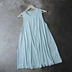 BSIC - sleeveless swing dress - mint
