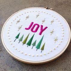 salty oat: modern quilts: joy embroidery sampler
