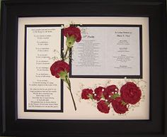 Pressed Garden: Red Carnations and Baby's Breath ~ Memorial