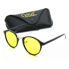 Cyxus Blue Light Filter [Sleep Better] UV Block Protection Health Reading Glasses Safety Eyewear Classic Oval Black Frame/Black Lens 49mm, Unisex(Mens/Womens)