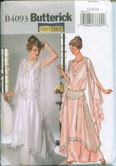 Butterick 4093 Out of Print Flapper Dress Costume Sewing Pattern Sizes 12-14-16 OOP Great Gatsby. $28.00, via Etsy.