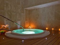 HEAVENLY SPA, WESTIN LIMA  Lima, Peru    An oasis in Lima's growing concrete jungle, on the second floor of the tallest building in Peru. State-of-the-art equipment—four smart-activated hydromassage beds in the pool, relaxation lounges lit by twinkly ceiling lights, and a full-service salon—is tempered by soothing light-green and off-white furniture.