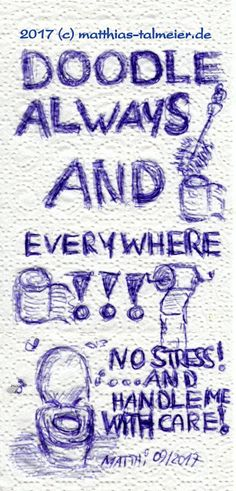 """Ballpoint Doodles - """"Can Art"""" (1) #doodle #ballpoint #toilet #toiletpaper #restroom"""