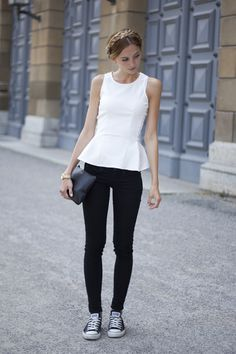 WHITE PEPLUM TOP | FashionMugging