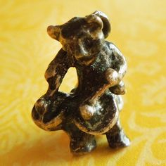 Vintage Jazz Cat Playing Drums Sterling Silver Charm
