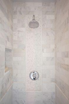 Courtney Blanton Interiors - bathrooms - walk in shower, shower tiles, shower tile ideas, calcutta gold tiles, calcutta gold marble tiles, d...