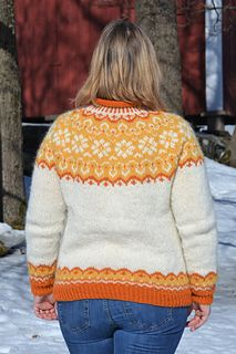 Ravelry: Sundrops / Solgløtt pattern by Vanja Blix Langsrud Knitting Patterns Free, Free Pattern, Icelandic Sweaters, Ravelry, Men Sweater, Chart, Pullover, Cool Stuff, Fashion