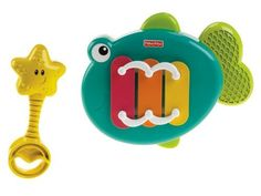 Fisher-Price Growing Baby Musical Xylo Fish by Fisher-Price. $12.99. From the Manufacturer                Babies love music and rhythms that encourage moving. The Musical Xylo Fish lets them make their own sounds to move and groove to! Rocking the fish and tapping the keys help baby understand cause and effect. Fun music and sounds stimulate auditory skills. And gross motor skills develop as baby grasps and taps the starfish mallet. Develop & Learn: 1) Responds to baby's touc...