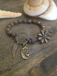 Wing and a Prayer Hand Knotted Wrap Bracelet by TwoSilverSisters, $32.00