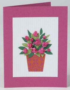 How to make a Mother's Day card Flowers vase plant pot leaves children craft sim. - How to make a Mother's Day card Flowers vase plant pot leaves children craft simple How to make a - Mothers Day Crafts For Kids, Fathers Day Crafts, Mothers Day Cards, Happy Mothers Day, Mother Day Gifts, Homemade Fathers Day Card, Homemade Cards, Mother's Day Activities, Mothering Sunday