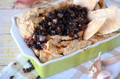Hummus cu ceapa caramelizata - Retete culinare by Teo's Kitchen Falafel, Tahini, Marshmallows, Cheesesteak, Hummus, Mashed Potatoes, Beef, Ethnic Recipes, Pineapple