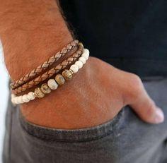Men's Bracelet Set Men's Beaded Bracelet Men's