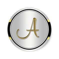 Flatiron Building Monogram Sticker White Gold BW