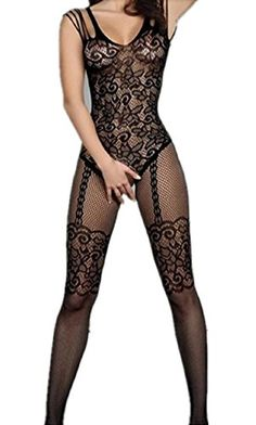 d5750d282c Generic Womens Sexy Fishnet Floral Open Crotch Mesh Bodystockings Bodysuits      Check out this great product. Note It is Affiliate Link to Amazon.